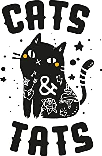 Cat Journal Notebook: Cats & Tats Crazy Cat Lady Diary Tattooed Woman Notebook Girls Feline Gift 200 Pages Lined Notepaper...