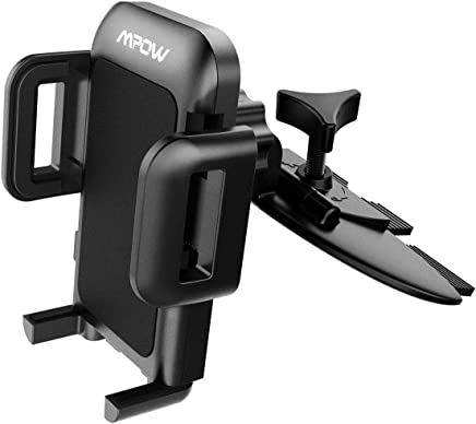 Mpow 051 Car Phone Mount, CD Slot Car Phone Holder, Car Mount with Three-Side Grips and One-Touch Design Compatible iPhone Xs MAX/XR/XS/X/8/8Plus/7/7Plus/6s, Galaxy S5/S6/S7/S8, Google, Huawei etc