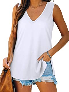 Women's Tank Tops V Neck T Shirts Basic Sleeveless Shirts...