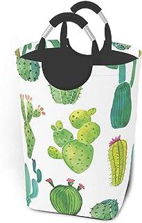 ZCHW Panier à Linge Cactus imprimé bac de Rangement Pliable imperméable, Panier à Linge avec poignées Organisateur Panier ...