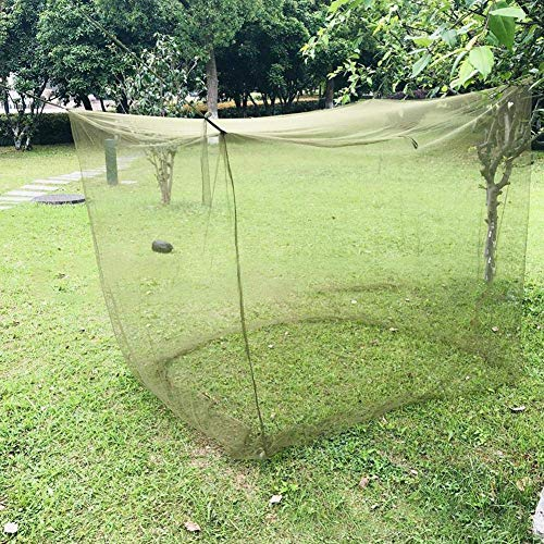 Kyman Camping Mosquito Net Portable Dense Mesh Foldable Outdoor Travel Tent Army Green Mosquito Net (Color : ArmyGreen, Size : 200x90x180cm) (Color : Armygreen, Size : 195x80x150cm)