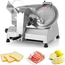 Electric Slicer, Meat Slicer for Business or Home, Cutting stroke is 18cm, 0-18mm Adjustable Thickness for Meat, Cheese, B...