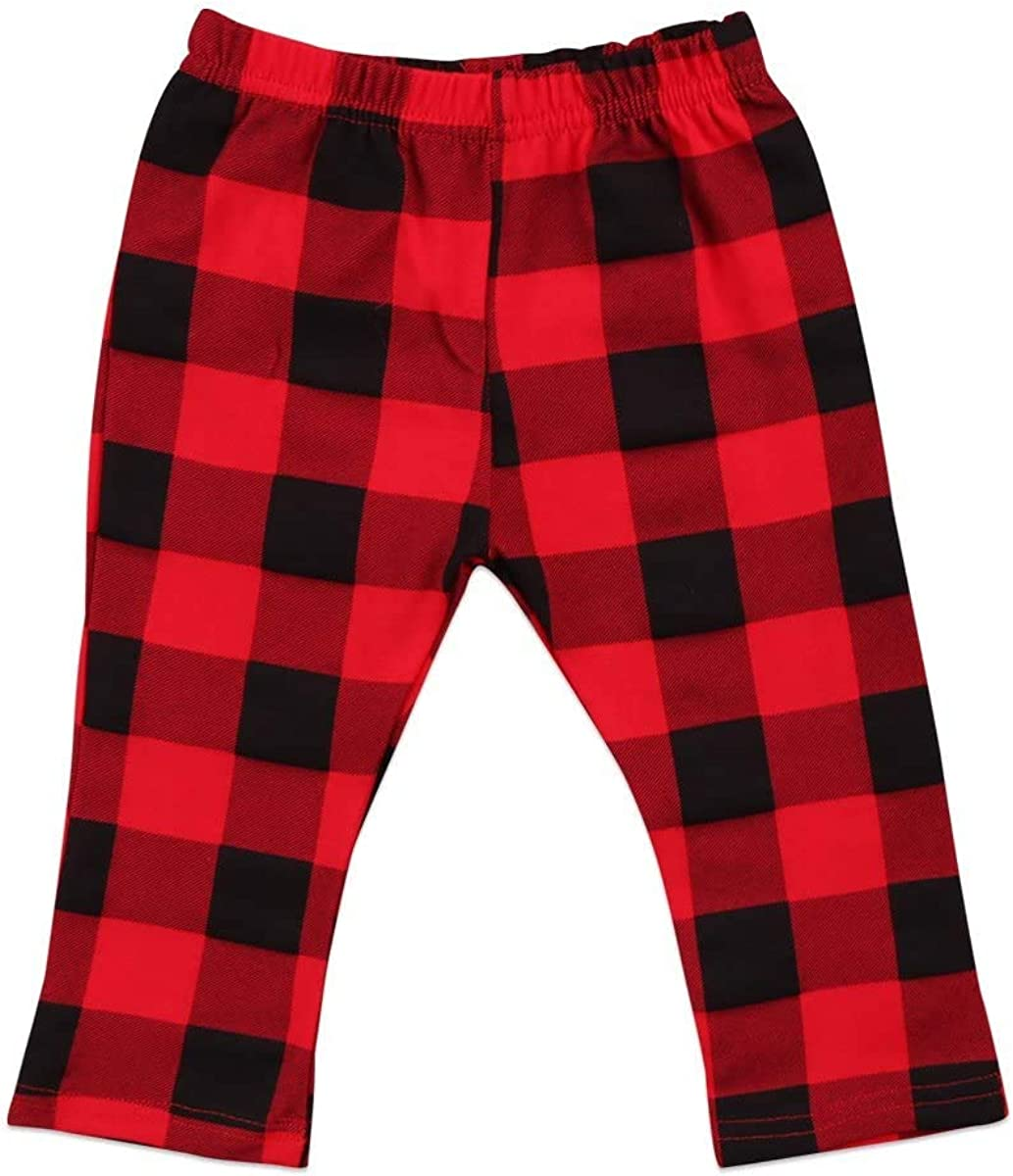 Toddler Baby Pants Infant Boy Girl Casual Cotton Plaids Check Lo