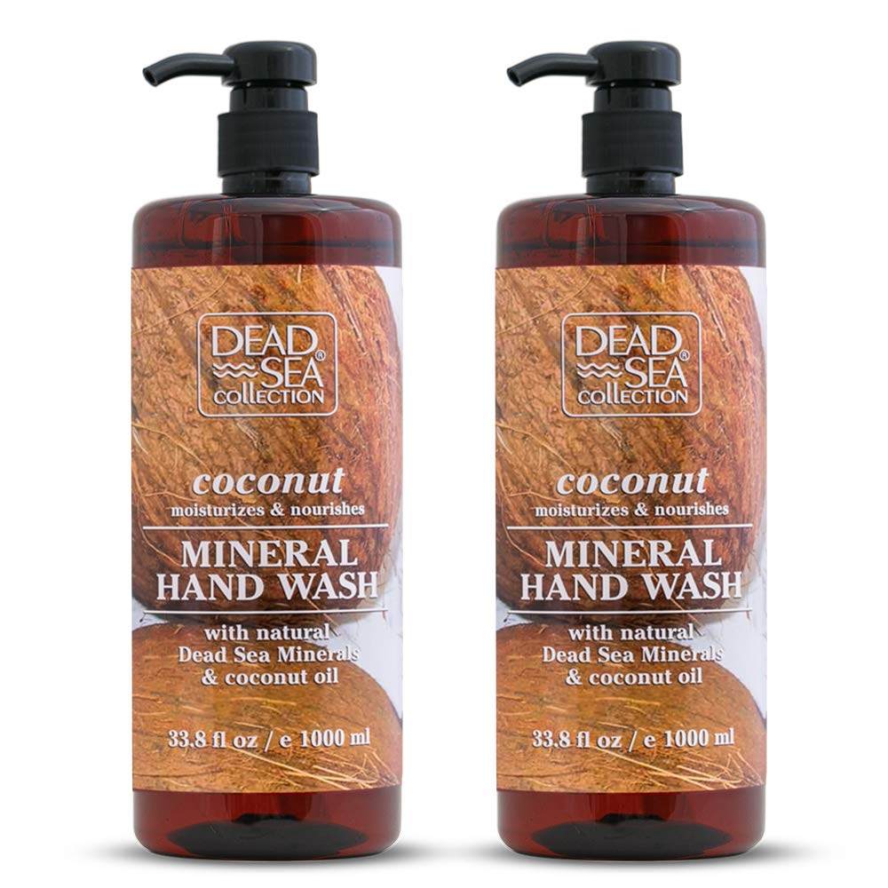 Dead Sea Collection Mineral Hand Wash with Coconut Oil Moisturizes and Nourishes 67.6 fl.oz Pack of 2