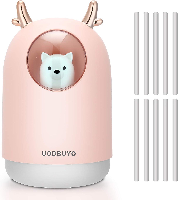 UODBUYO Portable Cool Max 41% OFF Mist Humidifier - Humid Mini 300ml trend rank Air USB