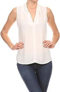 c27dae799adf Amazon.com: Ivory - Tanks & Camis / Tops, Tees & Blouses: Clothing ...