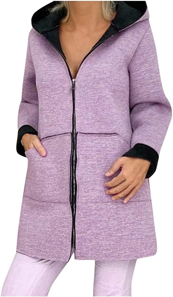 GREFER Coats for Women Plus Size Woolen Soft Sweat Full-Zip Faux Max 41% Phoenix Mall OFF
