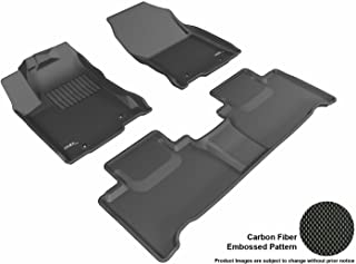3D MAXpider Complete Set Custom Fit All-Weather Floor Mat for Select Lexus NX/ NX Hybrid Models - Kagu Rubber (Black)