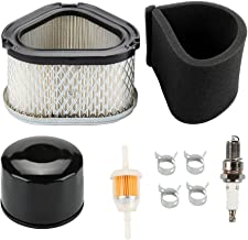 Harbot GY20574 M92359 Air Filter with AM125424 Oil Filter Tune Up Kit for John Deere STX30 STX38 STX46 LX173 LX172 LX176 LX178 LX186 LX188 LT133 LT155 LX255 LTR166 Scotts S1642 SST15 Lawn Tractor