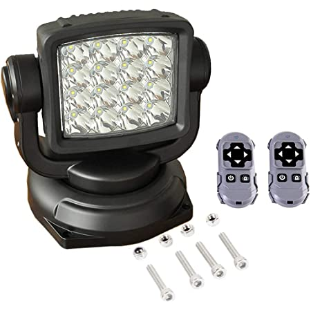 6 Diameter x 30W Passenger Side LED Post-Mount Spotlight with Black Head for Dodge Charger 210037-0002 Unity