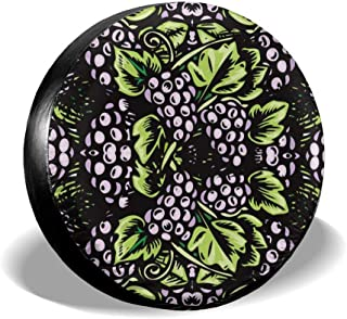 Gulong~a Moose Painting Tire Cover Polyester Waterproof Dust-Proof Universal Spare Wheel Tire Cover Fit for Jeep Trailer RV SUV and Many Vehicle