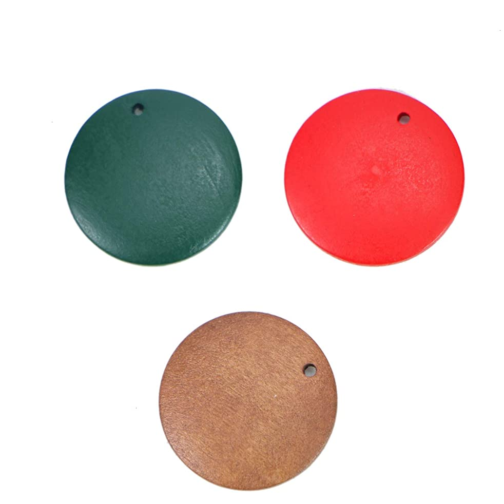 Monrocco 60PCS Wooden Earring Charms Wooden Discs Jewelry Making Crafts DIY Earrings Round Wood Earrings Pendants for Jewelry Making 25mm