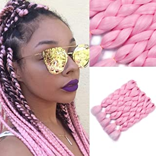 light pink braiding hair