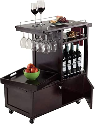 Wood & Style Premium Décor Entertainment Cart