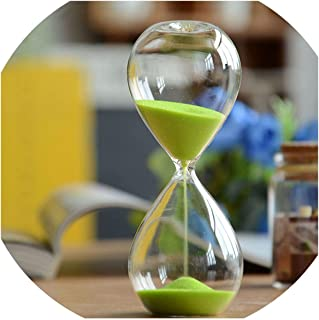 Fashion sand Hourglass 5 minutes Sandglass Time Counter Count Down Timer Glass Clock Creative Gift Home Decor,Purple,5min