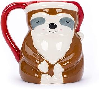 Tri-coastal Design – Kaffe- eller temugg av keramik med julmotiv och färgglad säsongsbetonad design, stor kopp med 443 ml...
