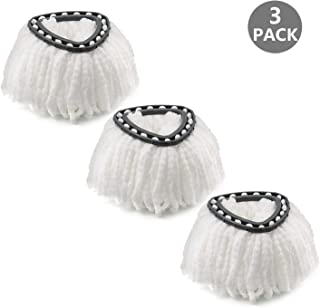 Microfiber Mop Head Refill for Spin EasyWring Mop Replacement Head, White (3 Pack)