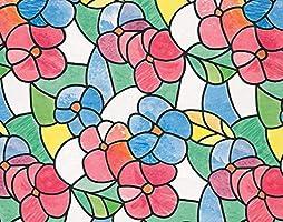 "D-C-Fix 346-0017 Decorative Self-Adhesive Window Film, Lisboa Red, 17.71"" X 78"" Roll"