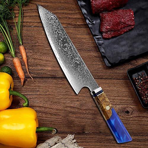Hochwertiges Damastmesser 32,6 cm Profi Chef-Messer Küchenmesser mit Elegantem Griff . küchenmesser.Sabatier Messer.damastmesser küchenmesser. Sabatier.Damastmesser eingestellt. Messer damast. Damast