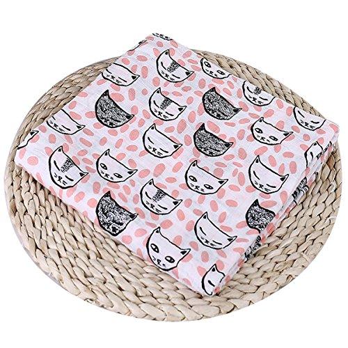 Bébé en mousseline Nid d'ange, doux Mousseline de coton Swaddle Wrap pour garçons ou filles Cadeau de Baby Shower