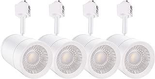 LEONLITE 4-Pack 17.5W (85W Eqv.) Integrated CRI90+ LED White Track Light Head, Dimmable 38° Spotlight Track Light, 1200lm Energy Star & ETL Listed for Wall Art Exhibition Lighting, 4000K Cool White