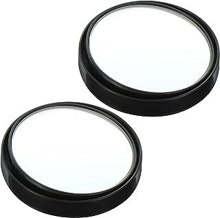VICASKY 1 par de espelhos retrovisores redondos com moldura de vidro convexo, peças de reposição com ângulo amplo para car...