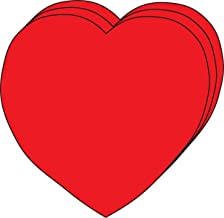 """product image for Heart Large Single Color Creative Cut-Outs 5"""", 31/pkg, red Paper"""