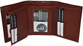 RFID Blocking Men's Leather Classic Trifold Wallet by Leatherboss