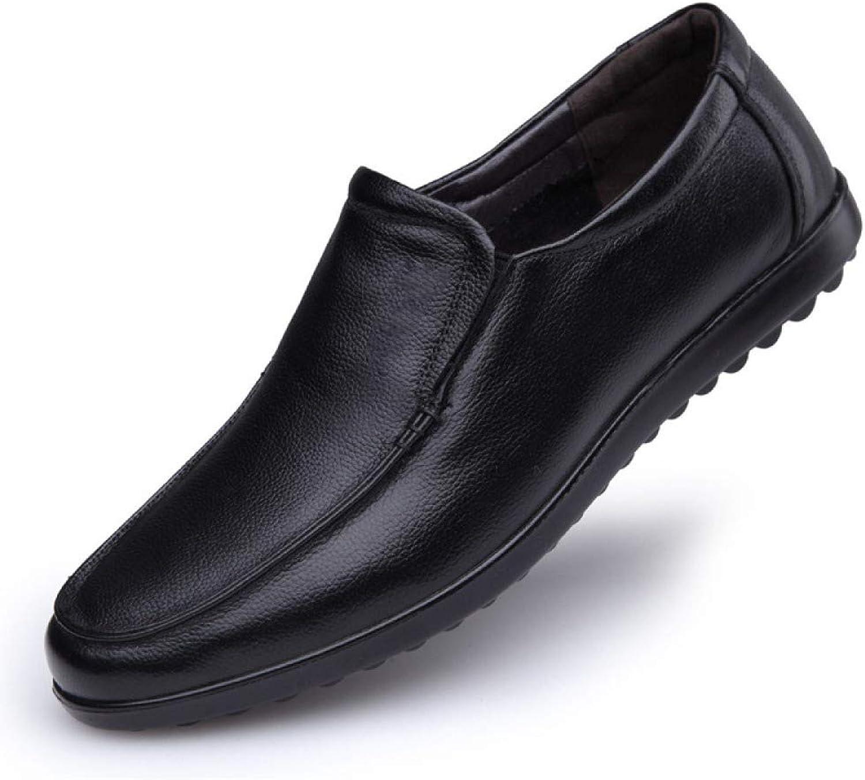 LYZGF Männer Männer Männer Gentleman Frühling Und Herbst Lässige Mode Tägliche Atmungsaktive Im Mittleren Alter Vater Schuhe  41bcd3