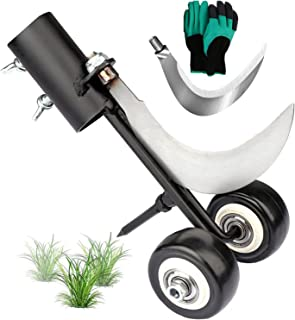 Weed Puller Tool, Manual Weeder Garden Tools Weed Snatcher Tool Weed Extractor Tool, with Wheels and Gloves, Two Blades, f...