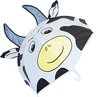 Kiddi Choice 3D PopUp Milk Cow Cute Umbrella, White
