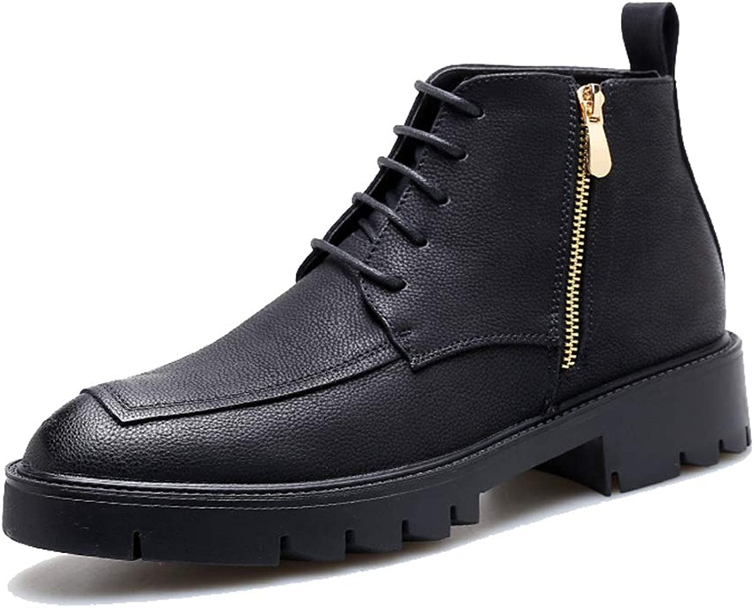 Phil Betty Mens Booties Breathable Non-Slip Zipper Warm Comfortable Casual Martin Boots