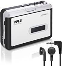 2-in-1 Cassette-to-MP3 Converter Recorder - USB Walkman Cassette Player - Portable Battery Powered Tape Audio Digitizer with 3.5mm Audio Jack Headphones- Pyle (PCASRSD17)