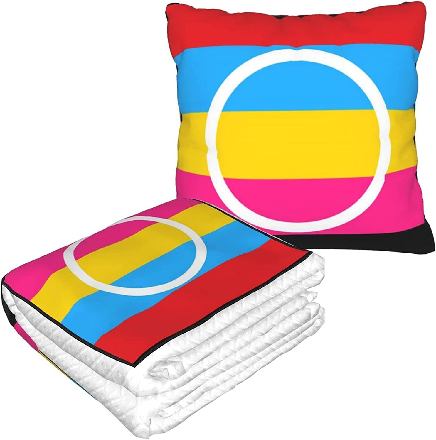 Foldable Pillow Blanket Polyamory Pride for Travel New sales Flag Ranking TOP9 LGBTQ C