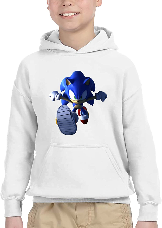 Sonic Unisex Boy Girl Children'S Hooded Pocket Sweater Sweatshirt 2t White