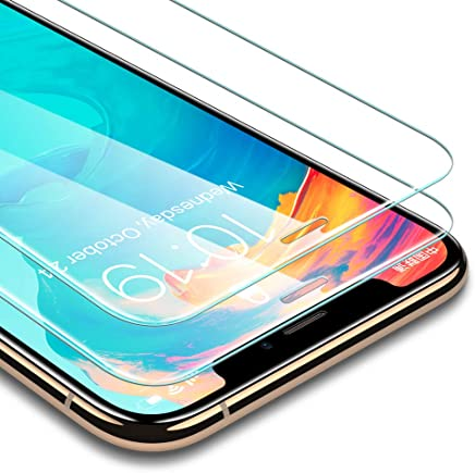 """ESR [2-Pack] Screen Protector Compatible for iPhone Xs Max, [Force Resistant Up to 22 Pounds] Premium Tempered Glass Screen Protector for The iPhone 6.5"""" (2018 Release)"""