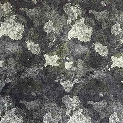 Kt KILOtela Tela de Patchwork - Estampación Digital - 100% algodón - Retal de 50 cm Largo x 150 cm Ancho   Camuflaje - Verde, Gris ─ 0,50 Metro