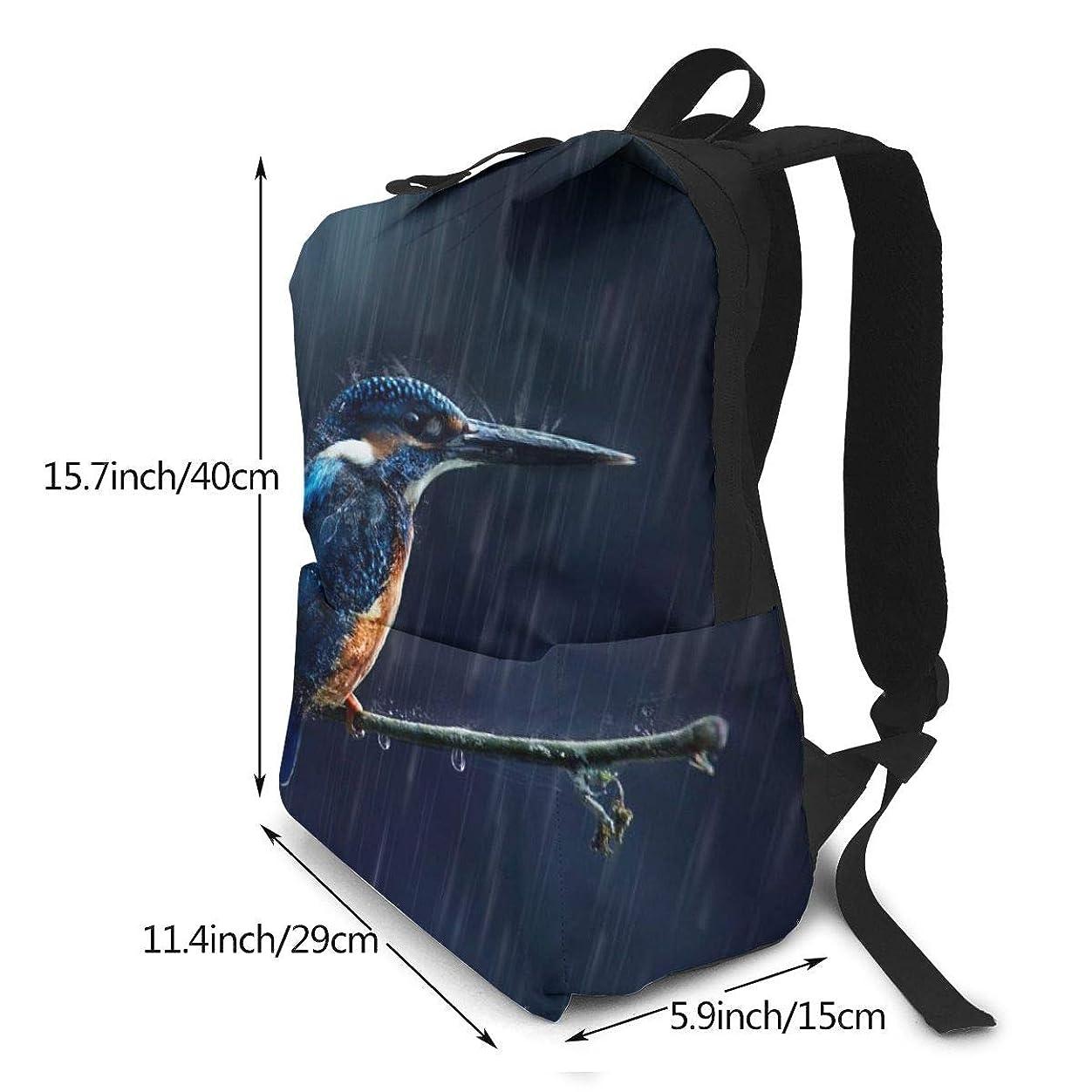 わずかにひまわり手足双肩バッグ リュックサック Kingfisher バックパック Schoolbag 大容量 通学 中学生かばん リュック スクエアリュック 男女子高校生 バック 通学 通勤 40X29X15(Cm)