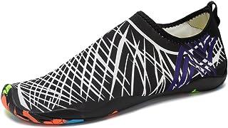 JACKSHIBO Men Women Water Skin Shoes,Lightweight Barefoot Beach Sneakers Quick Dry Aqua Shoes