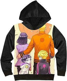 MLX-BUMU Sudadera con Capucha Neutral Naruto 3D Anime Print Sudadera con Capucha Sudadera con Bolsillo De Canguro Cordón c...
