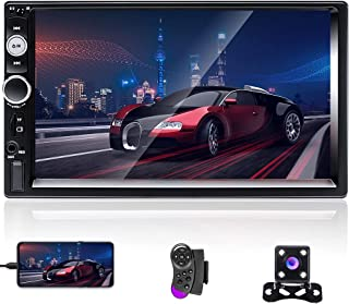 $65 » 7 Inch Car Stereo Double Din Radios with Bluetooth Touch Screen Car Radio with FM Receiver, Support Mirror Link for Androi...