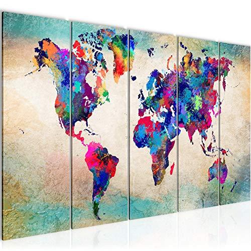 ikea världskarta canvas