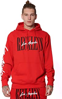 LA Vintage Hoodie - Red - - Mens - Fleece - Hoodies -