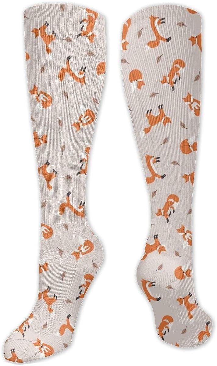 Fox Seamless Knee High Socks Leg Warmer Dresses Long Boot Stockings For Womens Cosplay Daily Wear