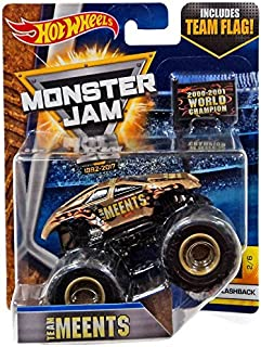 Hot Wheels Monster Jam 2017 Flashback Team Meents (With Flag) 1:64 Scale