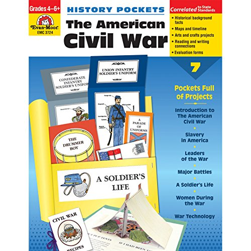 Evan-Moor EMC3724 History Pockets: The American Civil War Book, Grades 4-6+