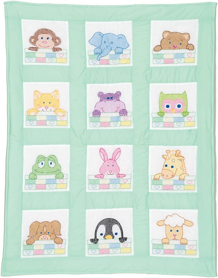 Direct stock discount Stamped White Nursery Quilt Block Bargain sale 9