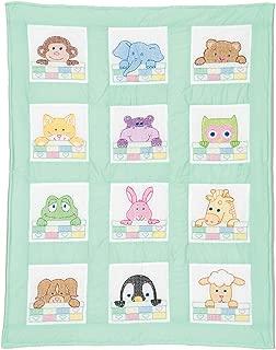 Stamped White Nursery Quilt Block 9