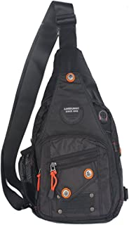 Kawei Knight Sling Bag Backpack Chest Shoulder Unbalance Gym Bag Pack