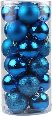 24PCS Christmas Ball Ornaments Shatterproof Christmas Decorations Tree Balls for Holiday Wedding Party Decoration, Xmas Tree